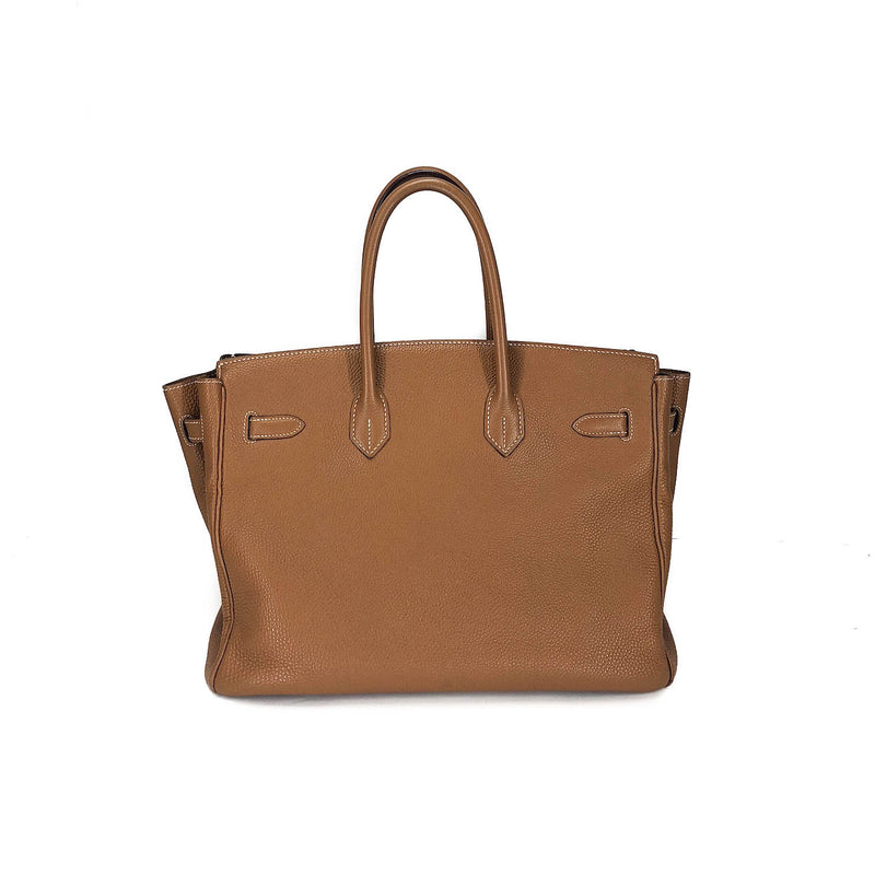 Birkin 35 Gold Clemence Leather with GHW - Bag Religion