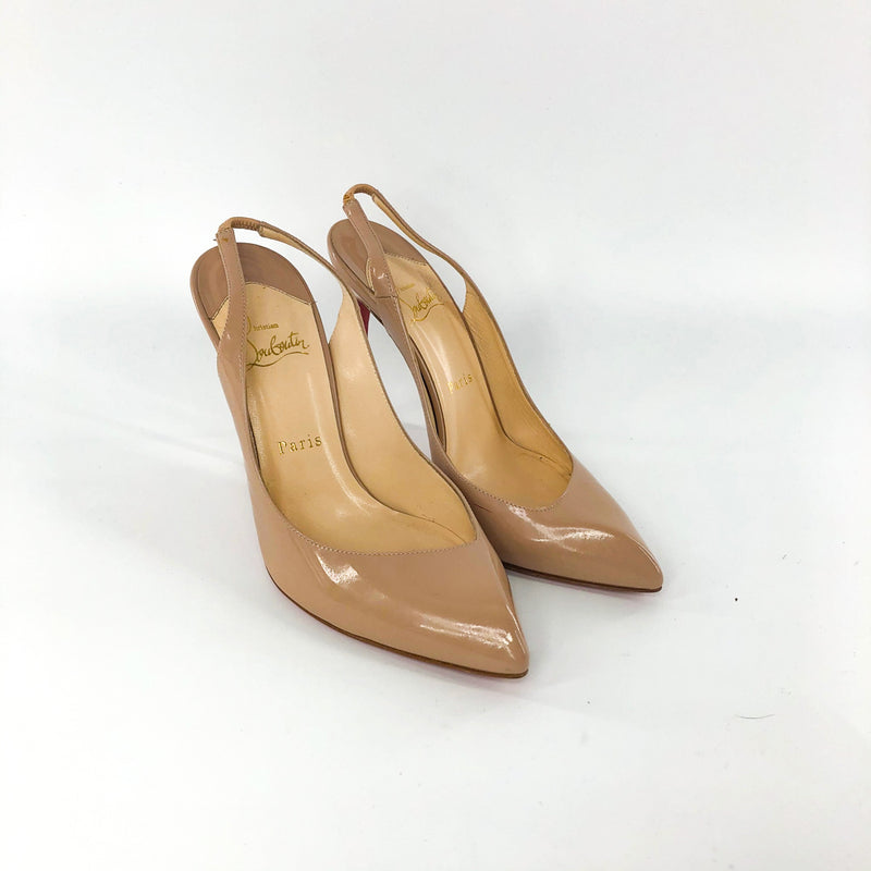 Corneille Sling Pumps in Nude - Bag Religion