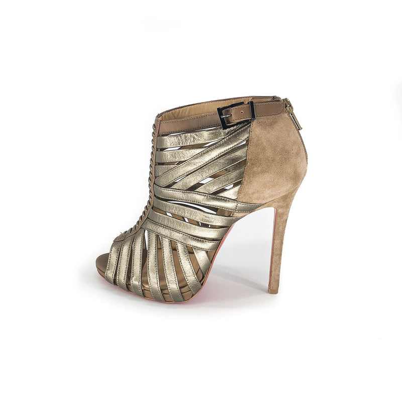Strappy Booties in Copper 110mm - Bag Religion
