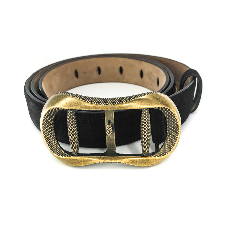 Suede Buckle Belt - Bag Religion