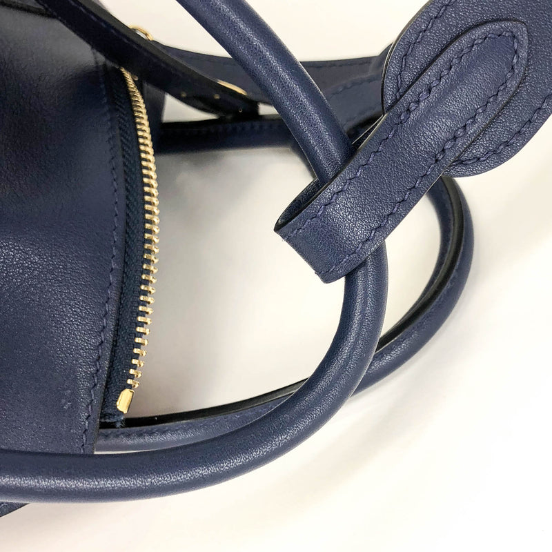 Lindy 30 in Blue Nuit with Rouge Tomate Interior - Bag Religion