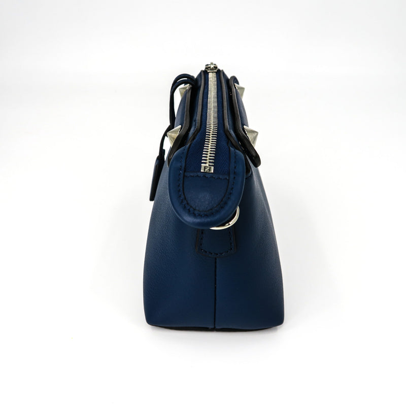 By The Way Mini in Blue Leather Boston Shoulder Bag - Bag Religion