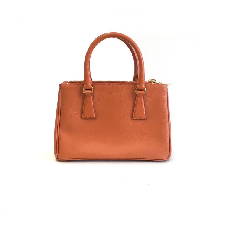 Orange Saffiano Lux Leather Small Tote - Bag Religion