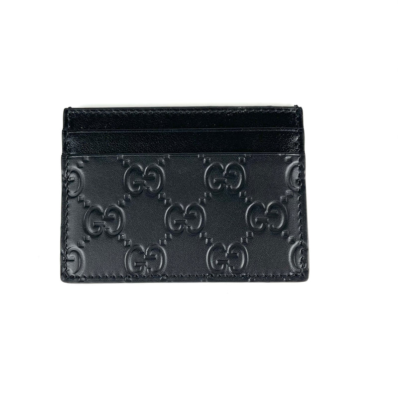 Monogram Card Holder Black