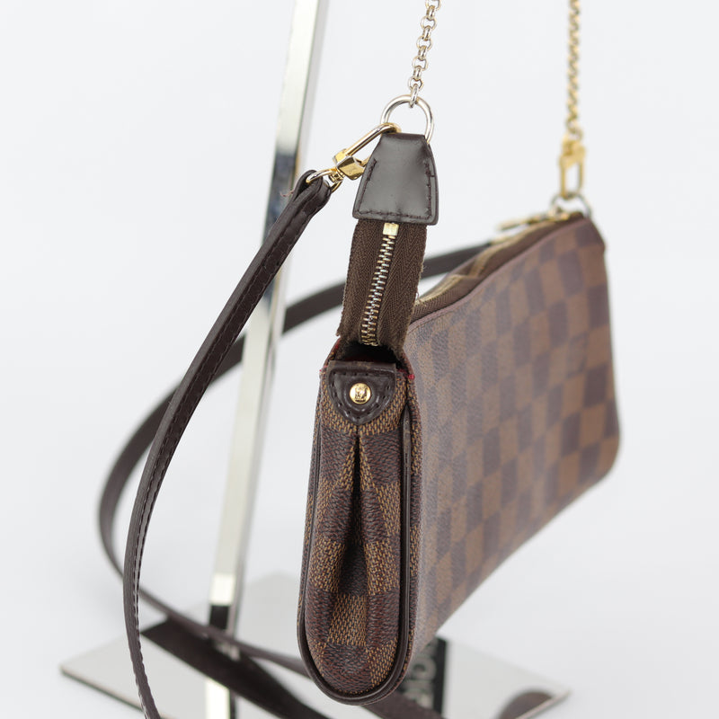Eva Bag in Damier Ebene with strap