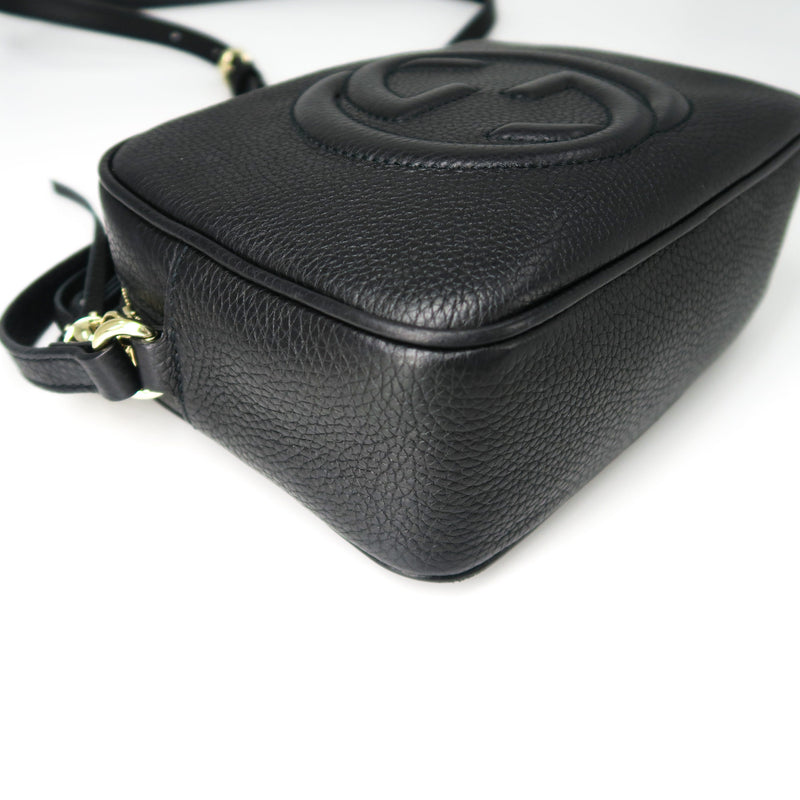 Soho small leather disco bag in black - Bag Religion