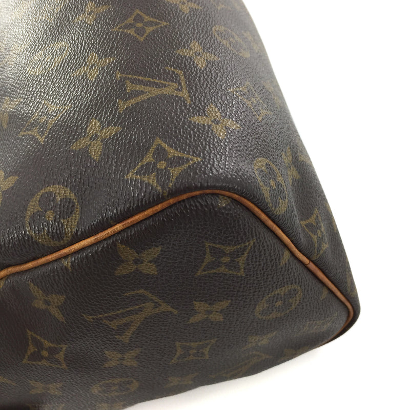 Vintage Louis Vuitton Speedy 25 Monogram Canvas Handbag - Bag Religion