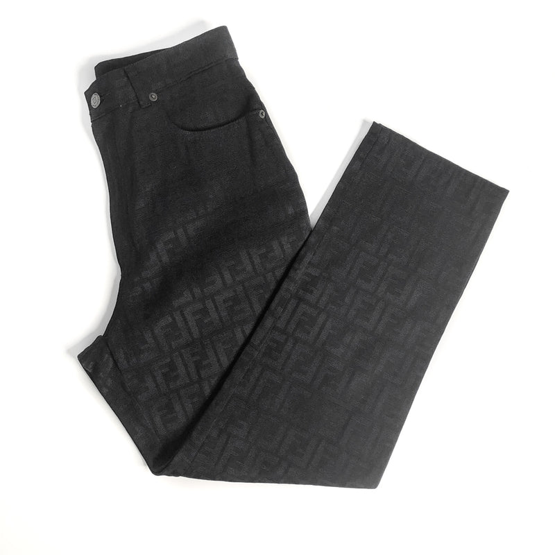 Vintage Monogram Jeans in Black - Bag Religion