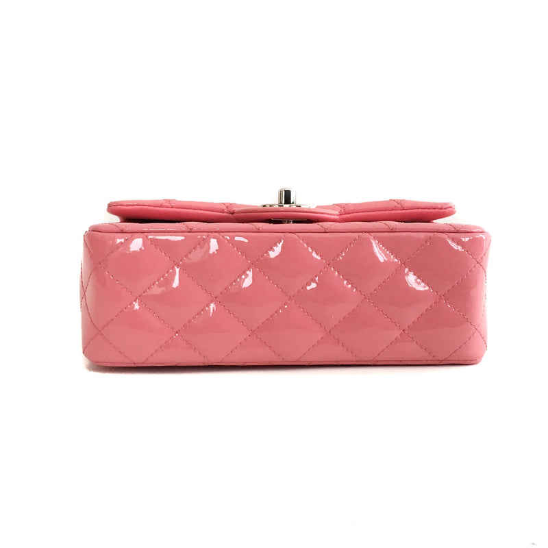 Mini Flap Bag in Pink Quilted Patent Leather - Bag Religion