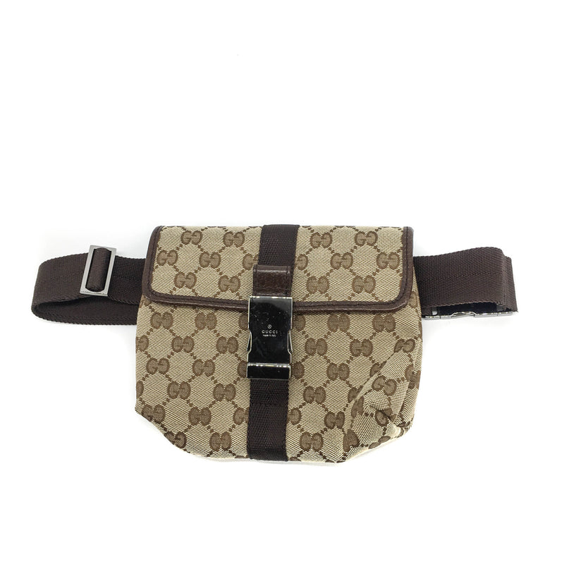 Classic GG Monogram Belt Bag with Front Buckle - Bag Religion