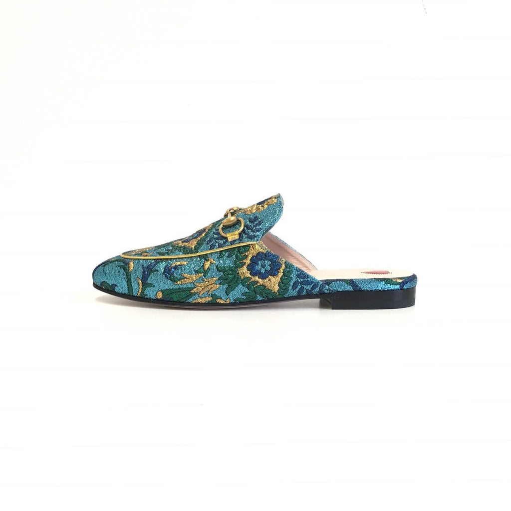 Princetown Loafer in Blue Multi - Bag Religion