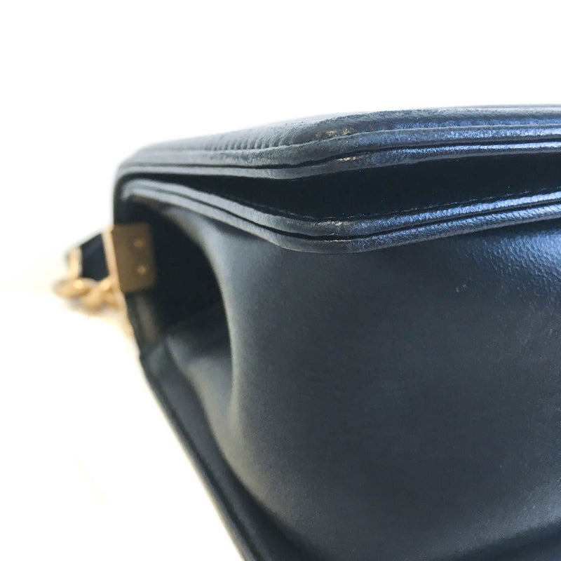 Old Medium Black Lambskin Boy Bag ghw - Bag Religion