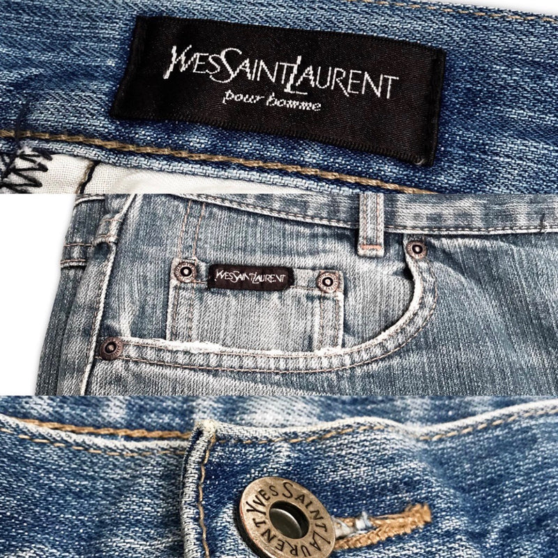 Size 36 YSL jeans in denim blue - Bag Religion