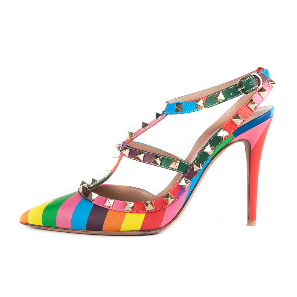 Rockstud Harlequin 100 Heels Multicolour - Bag Religion