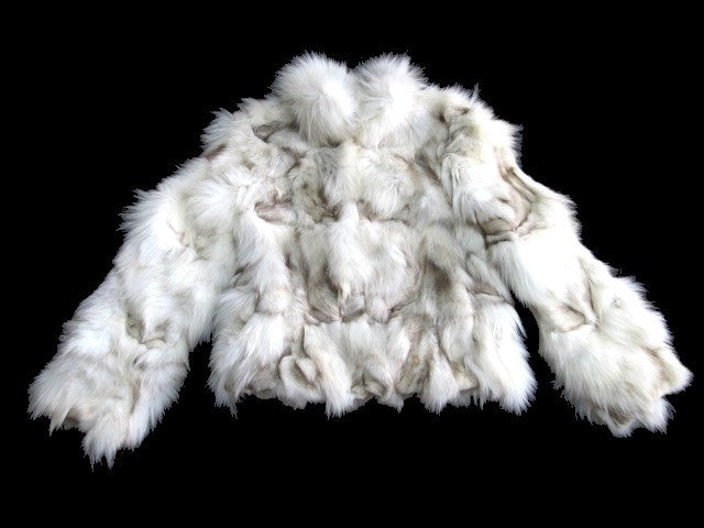 Blue Fox Fur Ladies Coat - Bag Religion