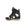 Bekett Leather And Suede Sneakers Black With White Details - Bag Religion