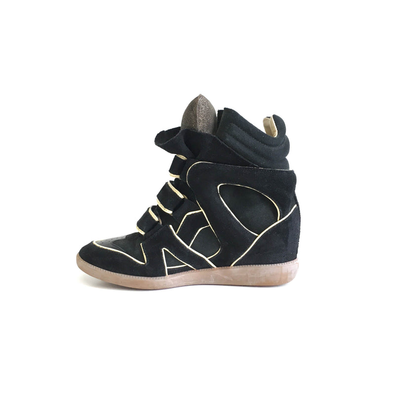 Bekett Leather and Suede Sneakers in Black and Off White - Bag Religion