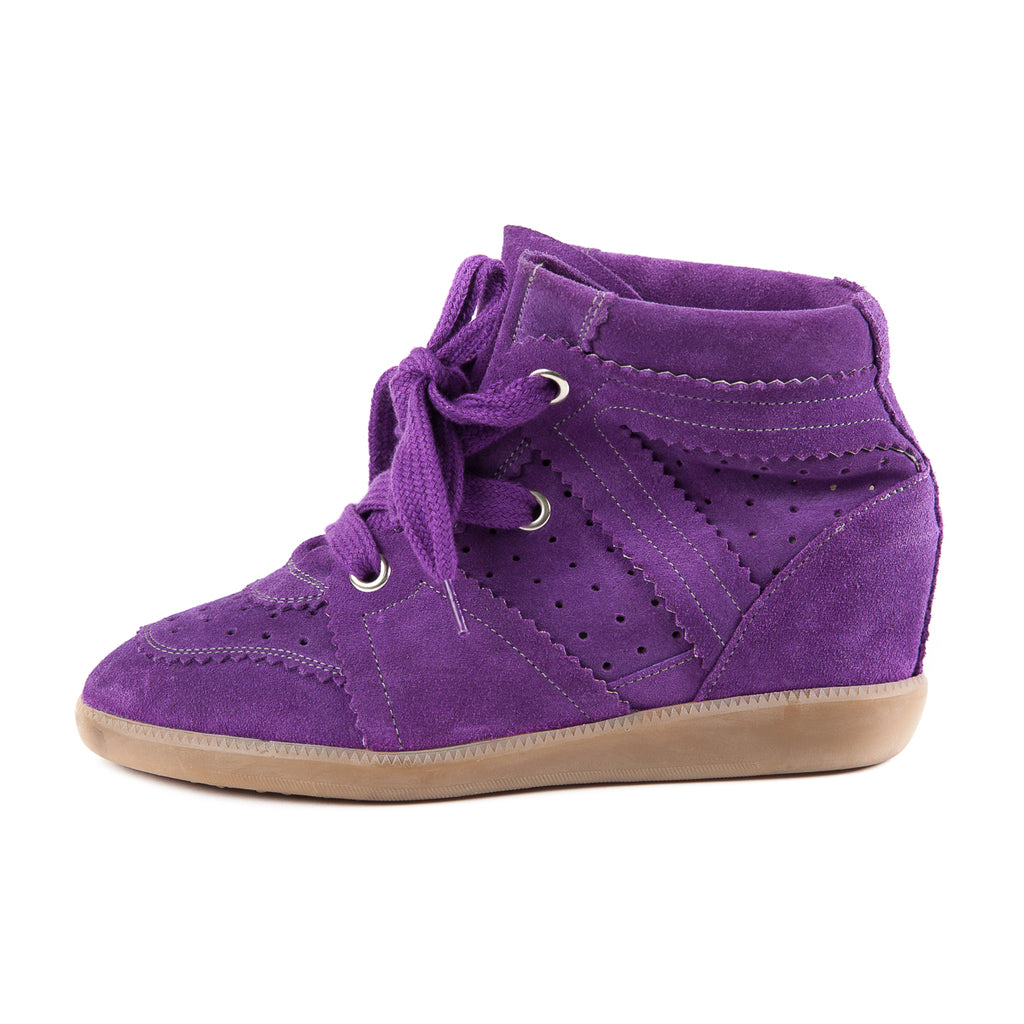 Bobby Concealed Wedge Suede Sneakers - Bag Religion