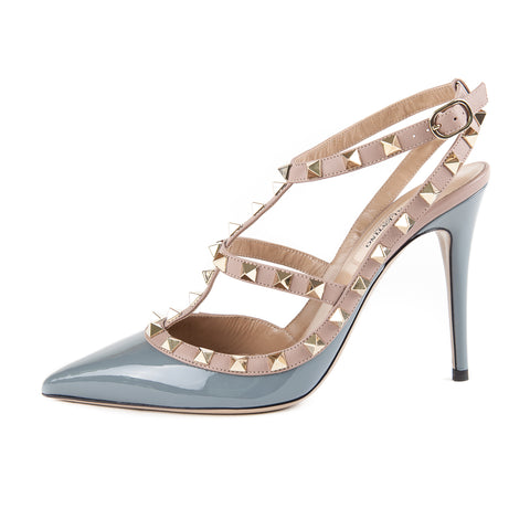 Anjalina Spike Patent Toffee Pump 100mm