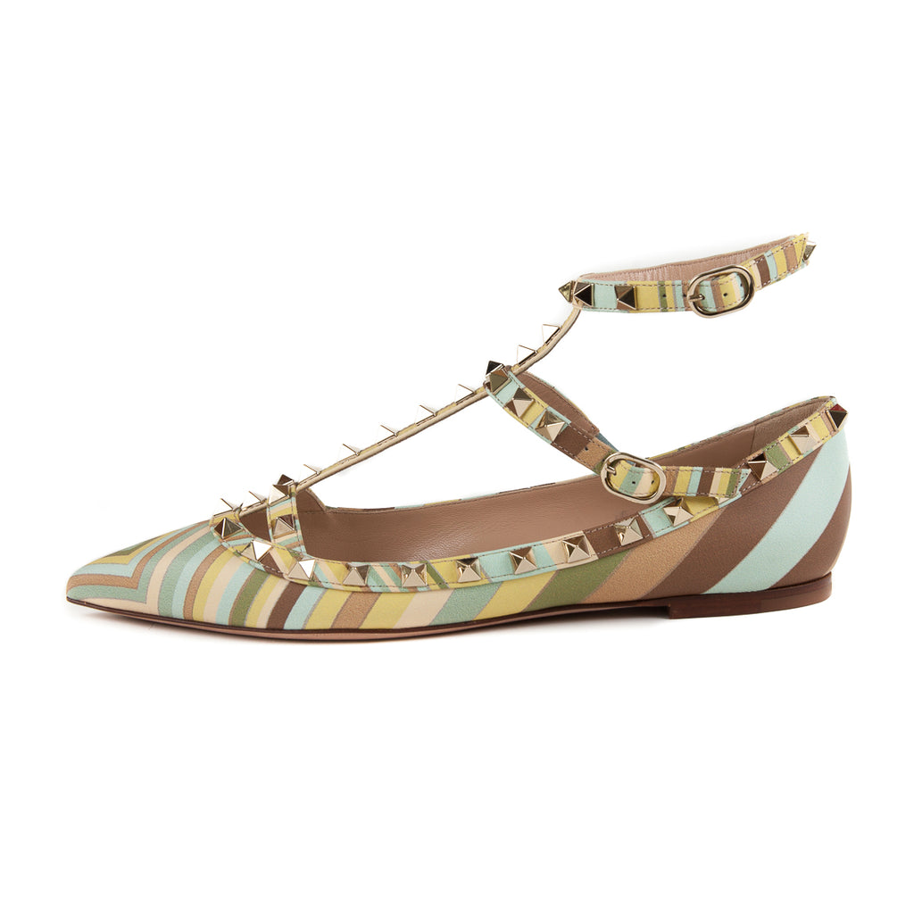 Rockstud Caged Flats Multi Color - Bag Religion