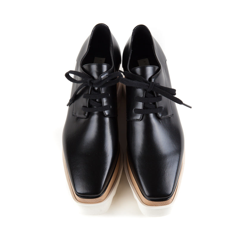 Faux Glossed-leather Platform Brogues - Bag Religion