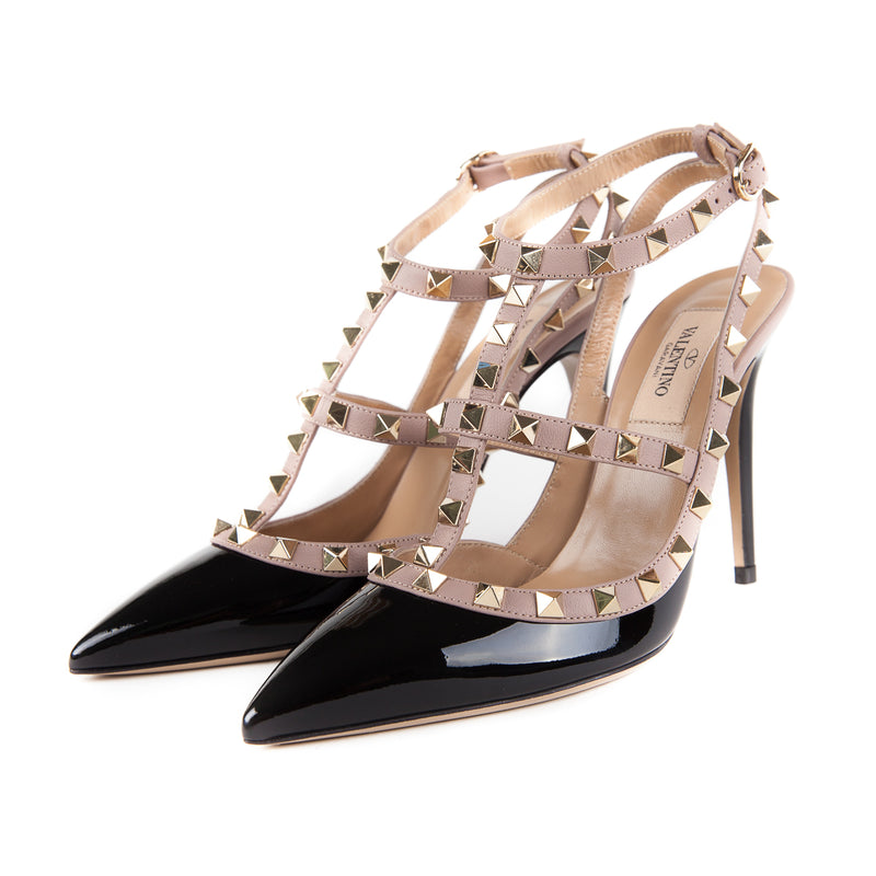Size 37 Rockstuds in Cream and Black - Bag Religion