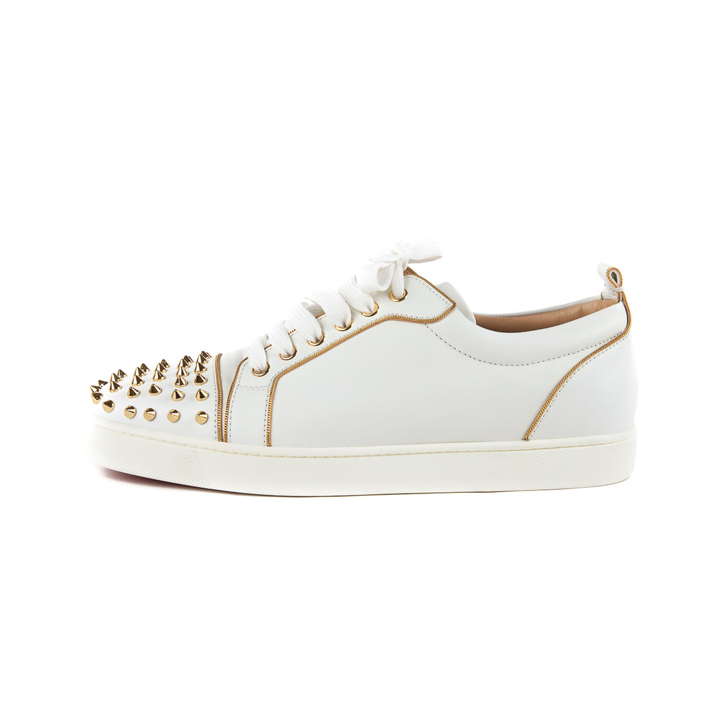 Rush Spiked Sneaker, White/Gold - Bag Religion
