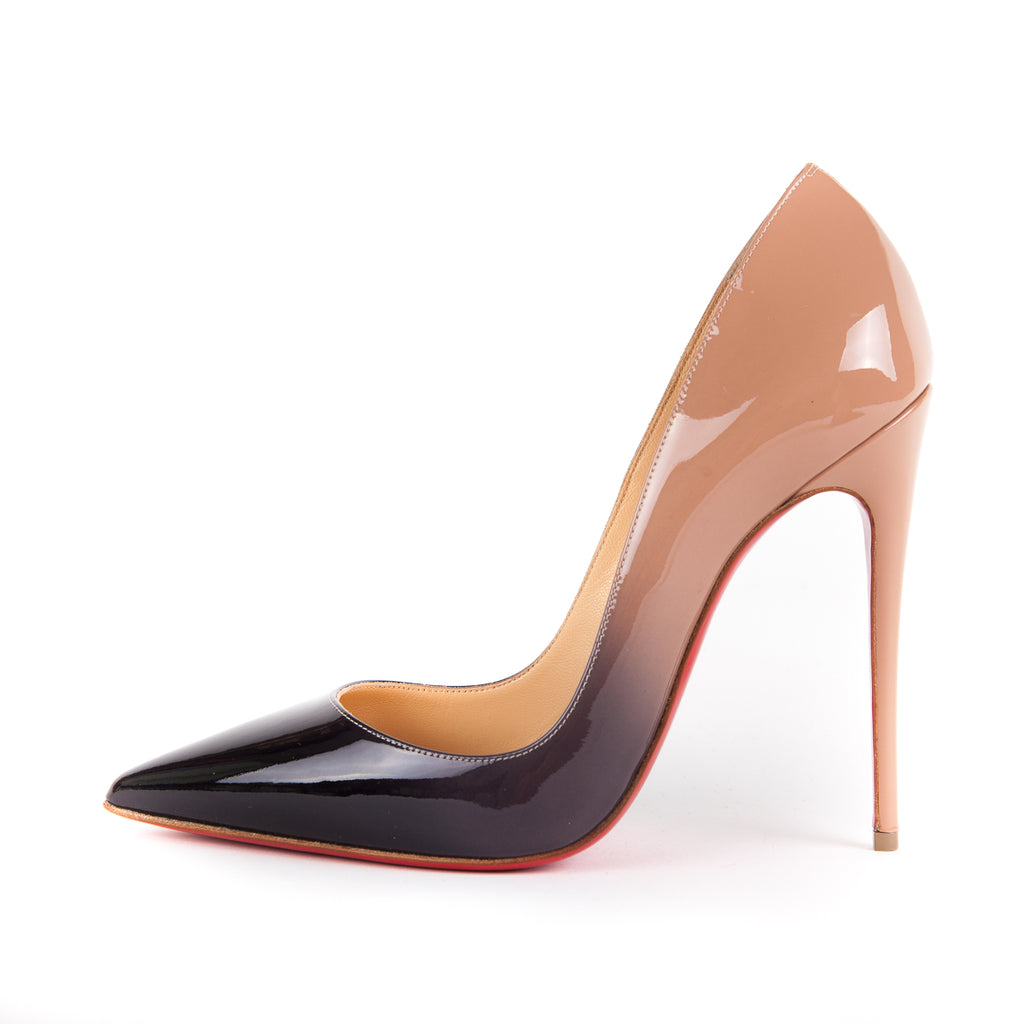So Kate Heels in Black and Beige Ombre - Bag Religion