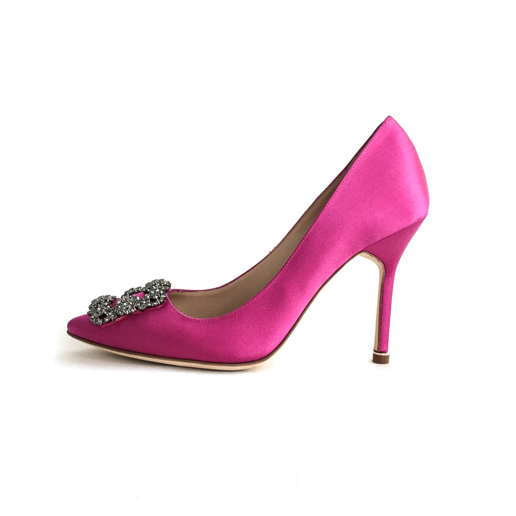 Hangisi Heels in Fuschia - Bag Religion