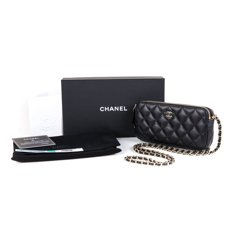 Black Lambskin Chanel Double Zip WOC - Bag Religion