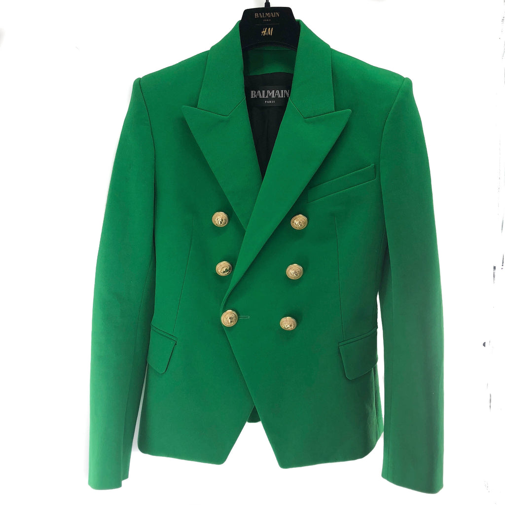 Emerald Green Blazer with Gold - Bag Religion
