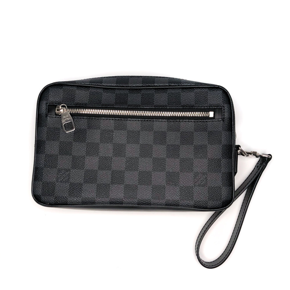 Kasai Clutch Damier Graphite Leather Men's - Bag Religion