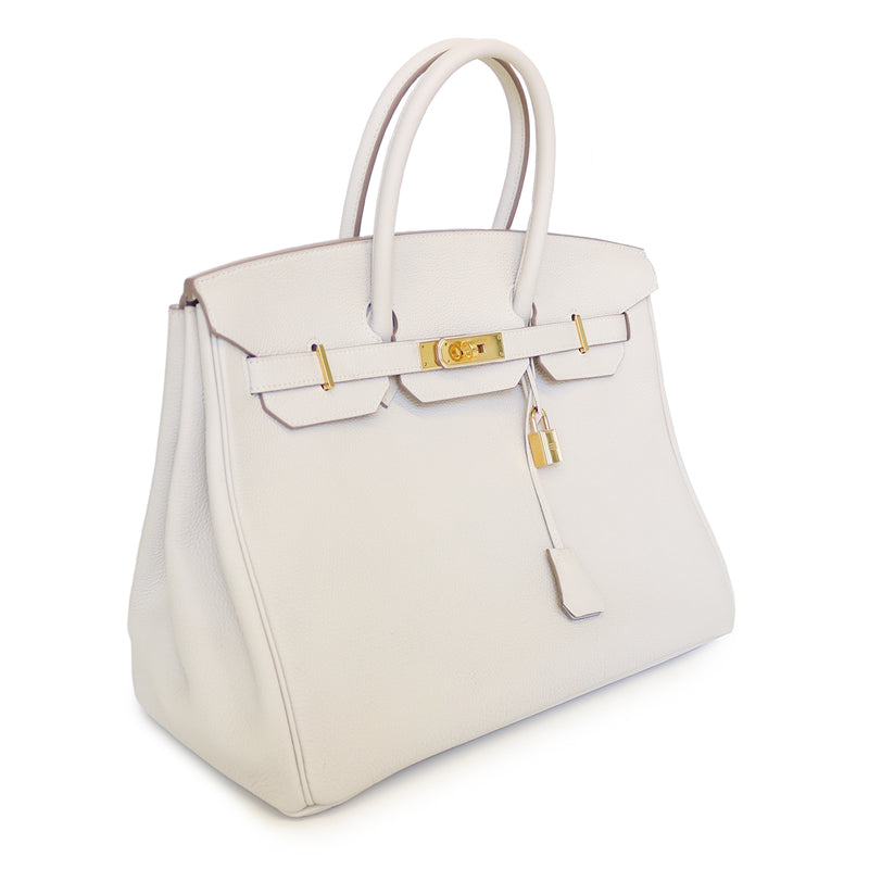 Birkin 35 in Craie Togo Leather GHW - Bag Religion