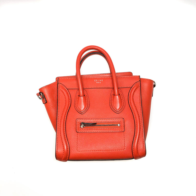 Nano Vermillion Orange Luggage Tote Crossbody Bag - Bag Religion