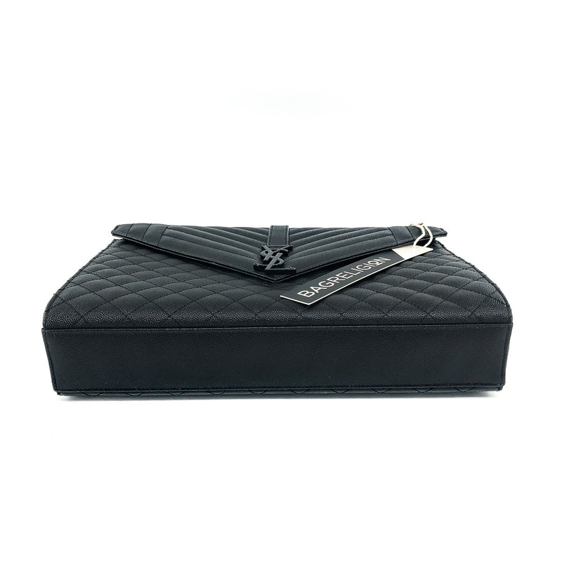 Large Envelope Chain Flap Bag Black - Bag Religion
