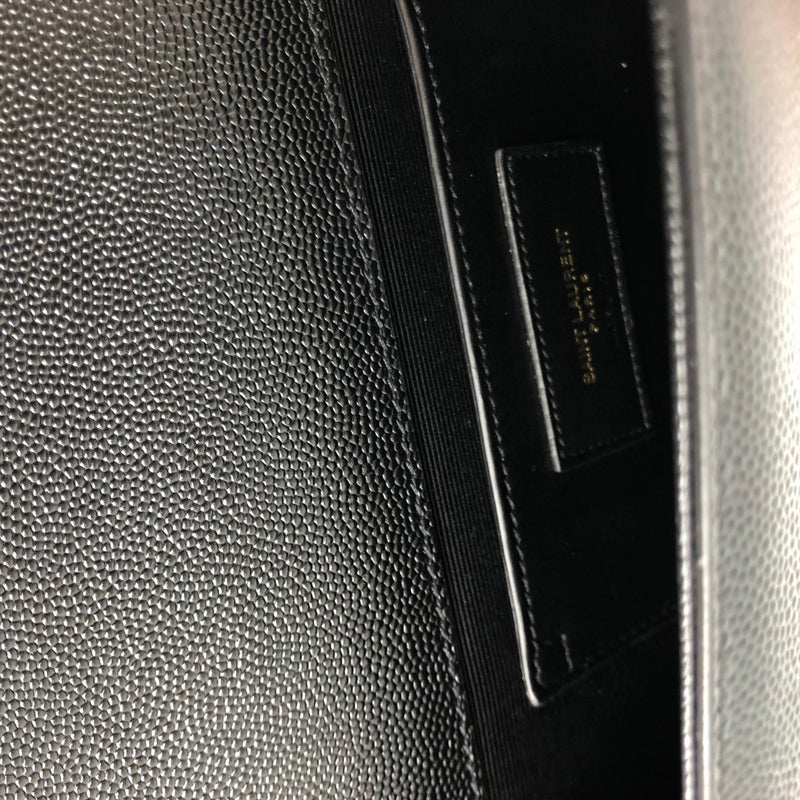 Black grained clutch with GHW - Bag Religion