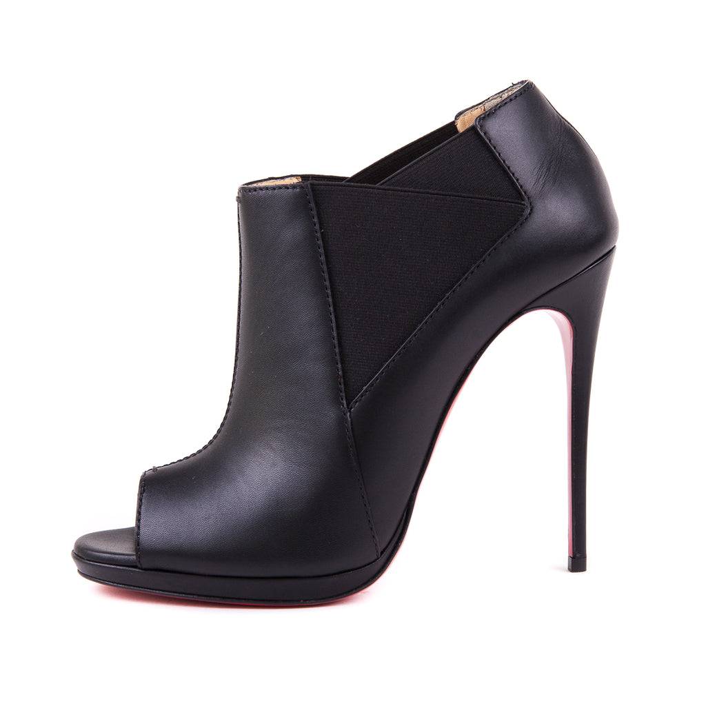 Bootstagram 120 Peep-Toe Bootie Black - Bag Religion