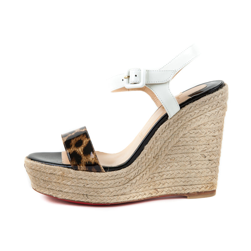 Spachita Leopard Print Espadrille Wedge Sandals - Bag Religion