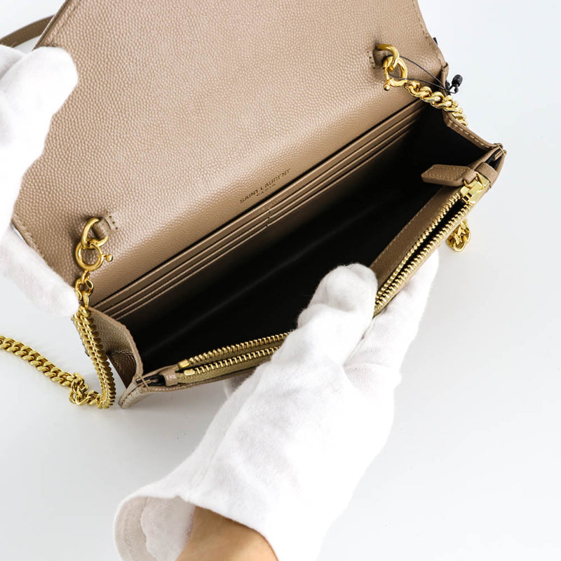 Envelope Chain Wallet in Light Taupe - Bag Religion