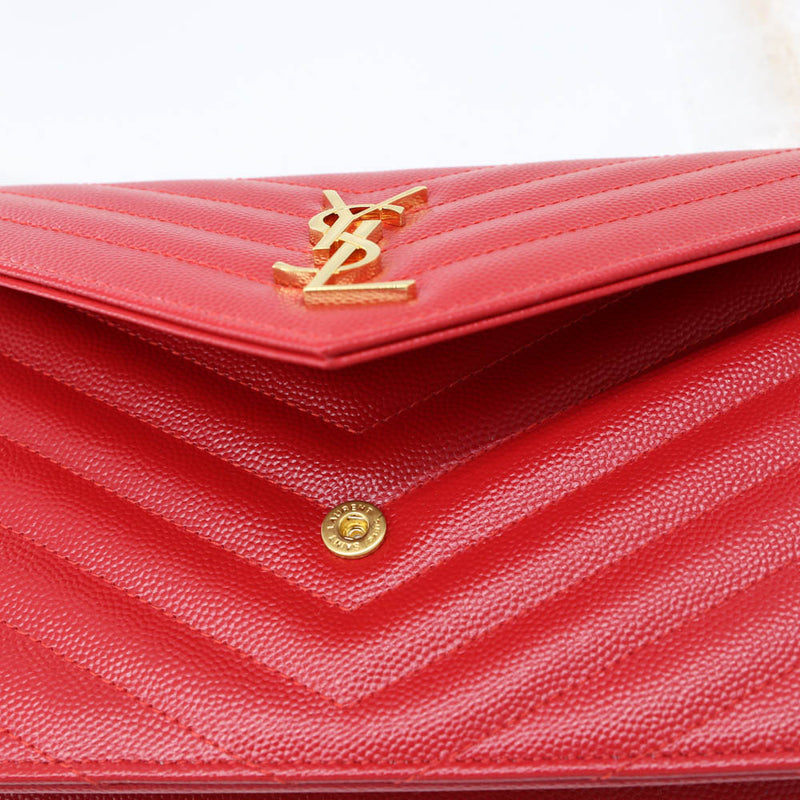 Envelope Chain Wallet in Red - Bag Religion