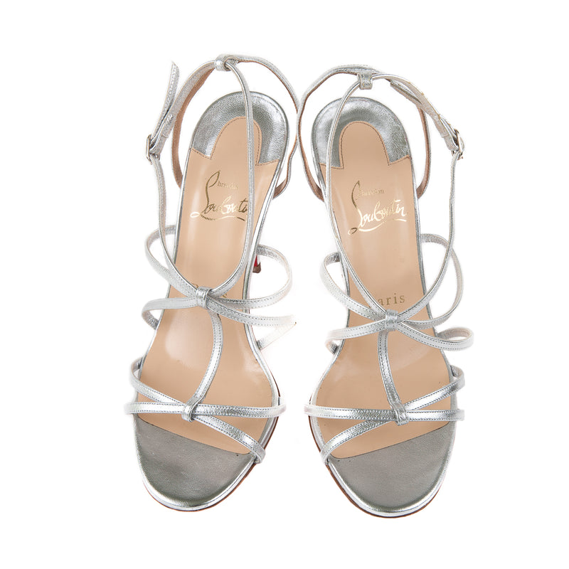 Youpiyou Strappy 100 Sandals, Silver - Bag Religion