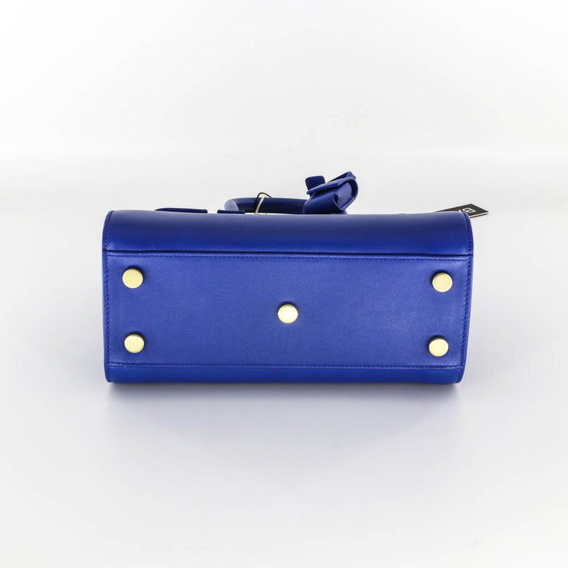 Nano Sac De Jour in Smooth Blue Leather - Bag Religion