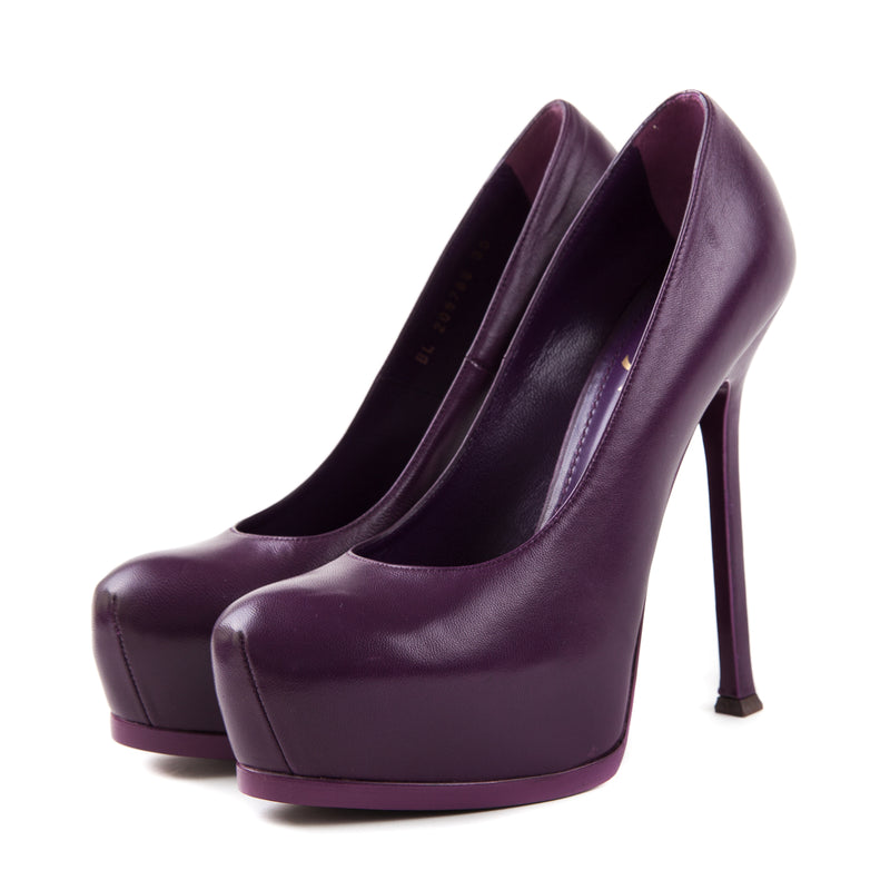 Platform Pumps in Purple - Bag Religion