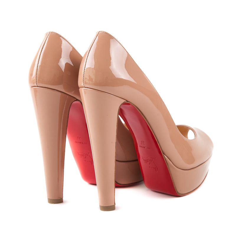 Altanana Peep Toe Pumps Nude - Bag Religion