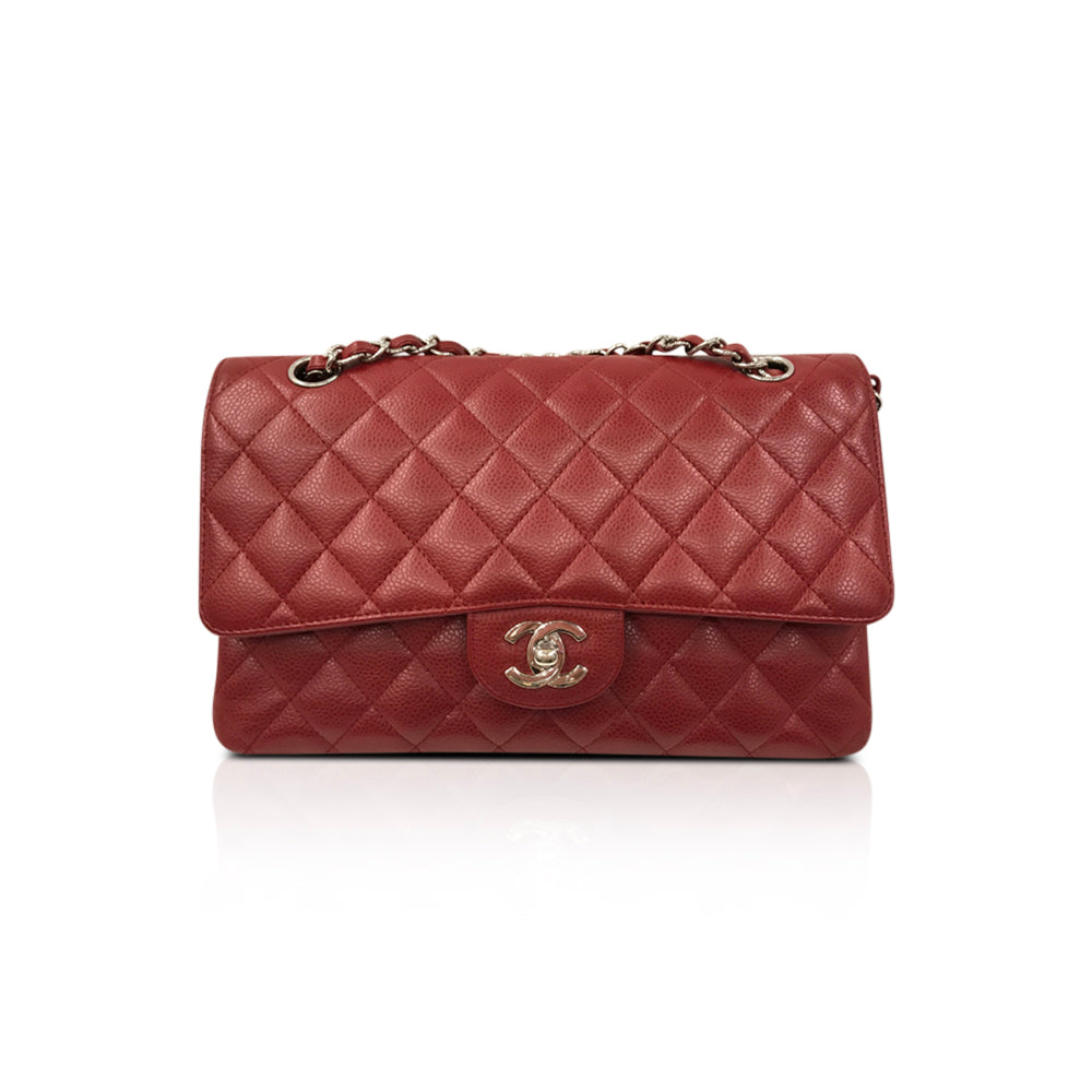 Classic Double Flap Caviar Leather M/L in Red - Bag Religion