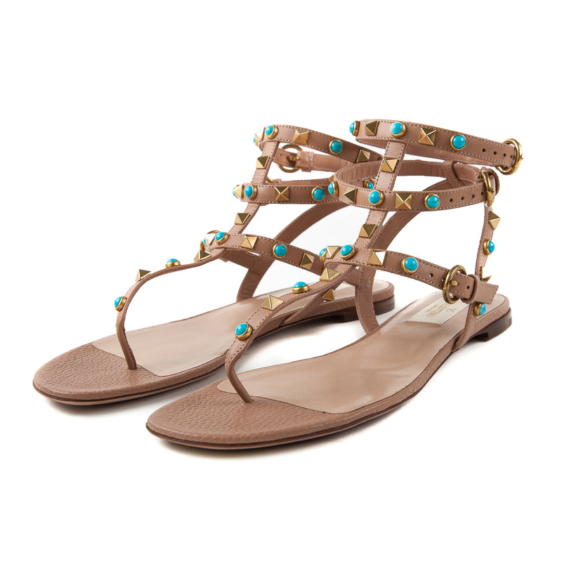 Rockstud Sandal with Blue Stones - Bag Religion