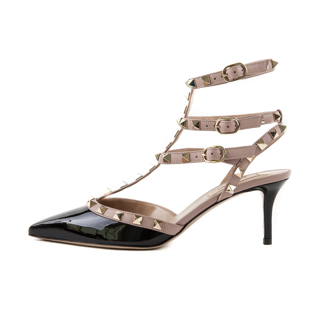 Rockstud 65 Heels Black and Creme - Bag Religion
