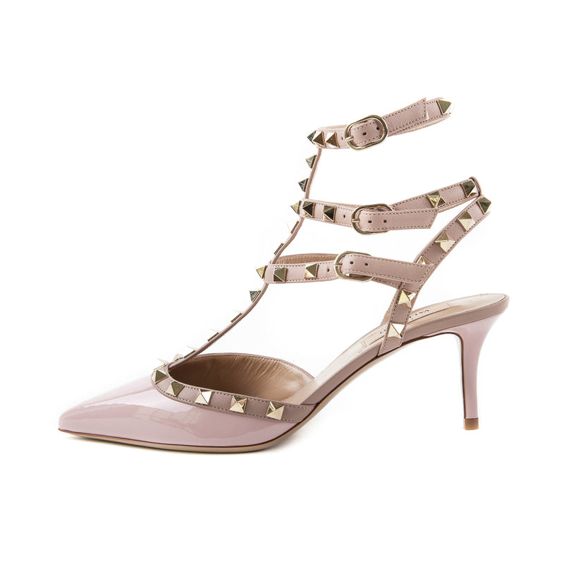 Rockstuds 65 Heels, Light Pink and Beige - Bag Religion