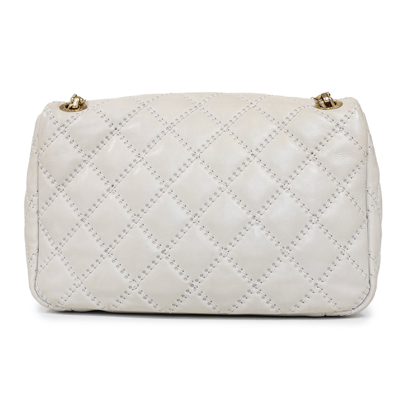 Quilted Bag in beige calf leather - Bag Religion