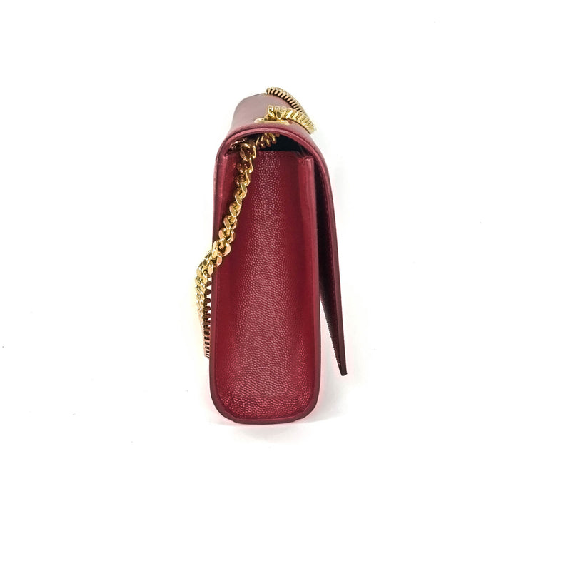 Classic Monogram Kate in Deep Red Grain Leather GHW - Bag Religion